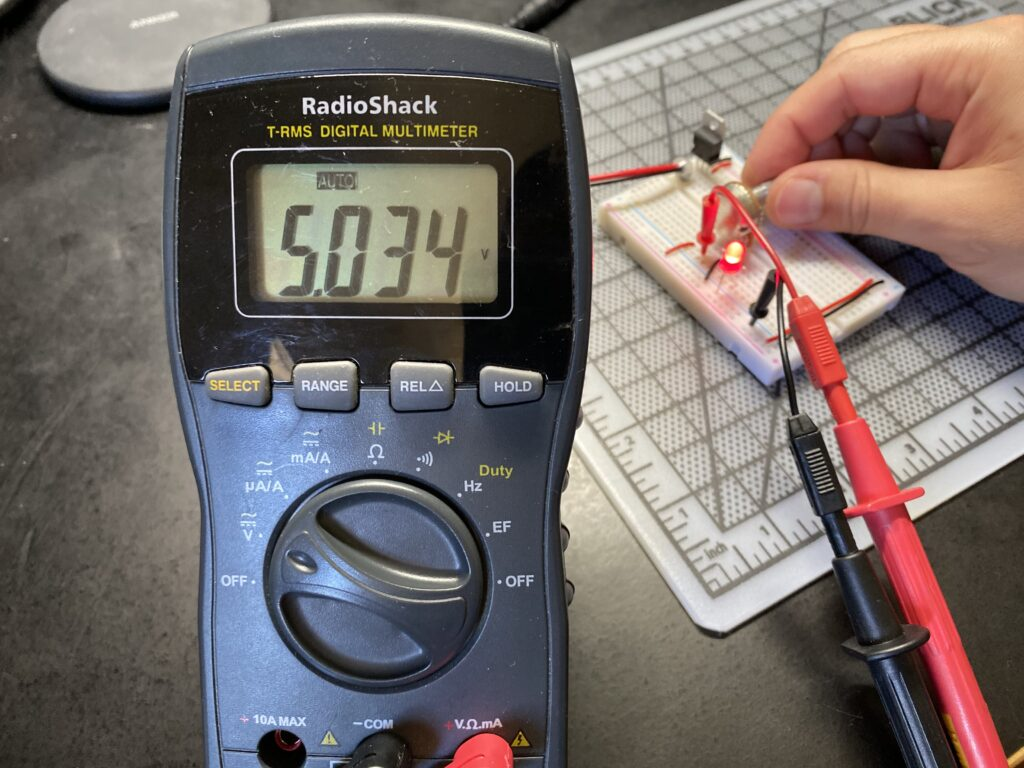 Measuring a circuit using a multi-meter