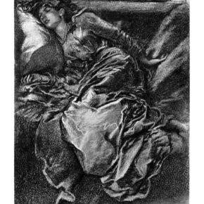 Pencil illustration of Sleep Beauty