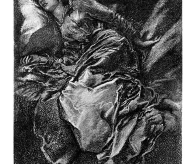 Pencil illustration of Sleep Beauty